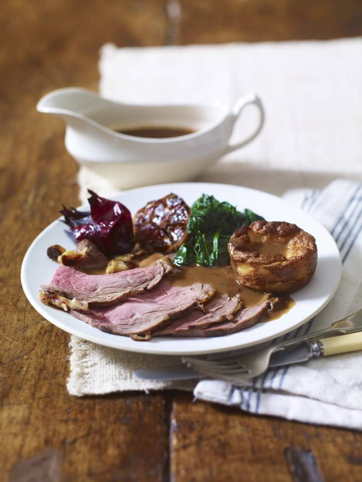 Roast Scotch Beef Silverside with Yorkshire Puddings and Gravy